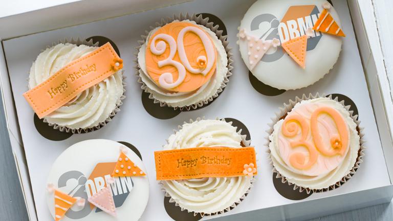 30 jaar cupcakes